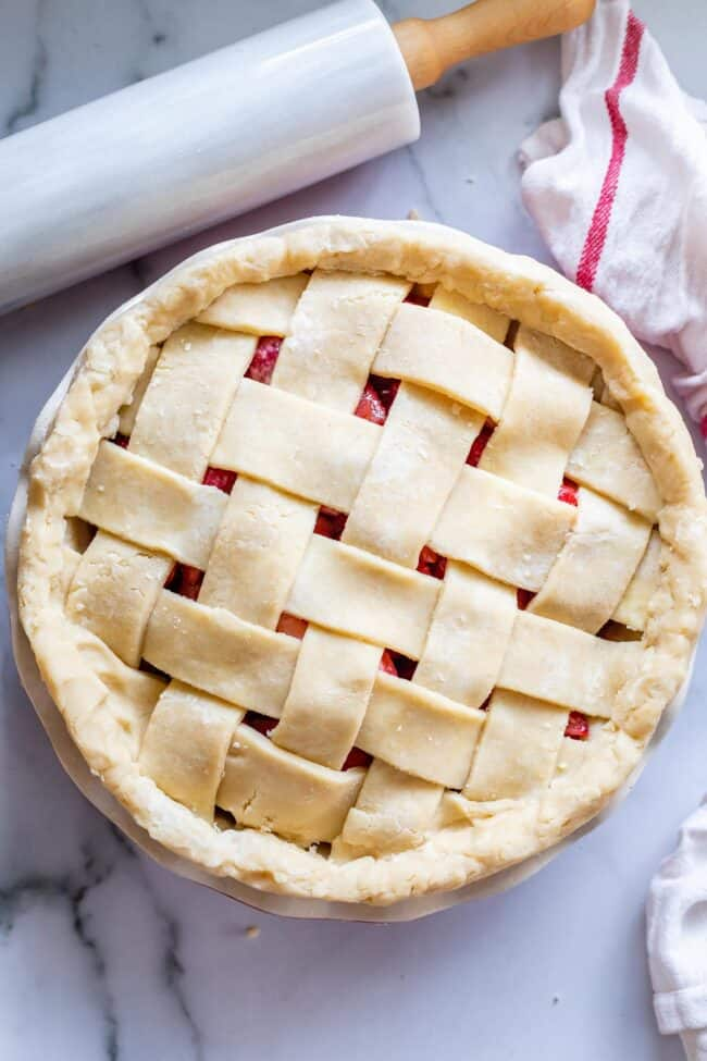 how to do lattice pie crust