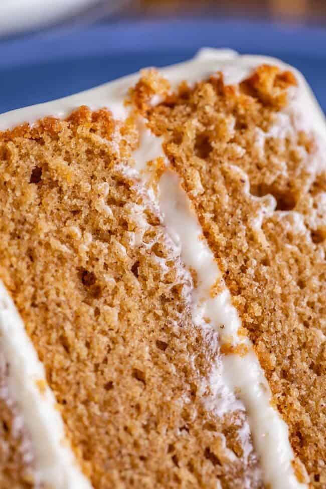 spice cake recipe slice on a plate