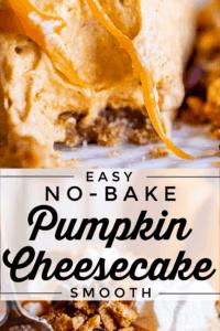 how to make no bake pumpkin cheesecake