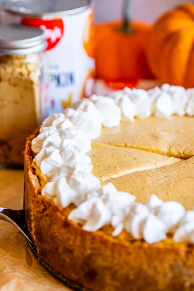 no bake pumpkin cheesecake recipe with whipped cream