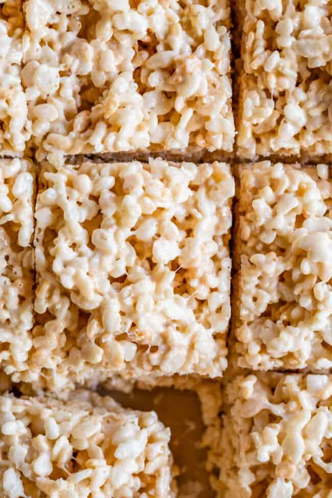 best rice krispie treat recipe, shot from overhead