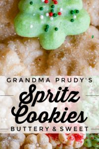 butter spritz cookies with sprinkles
