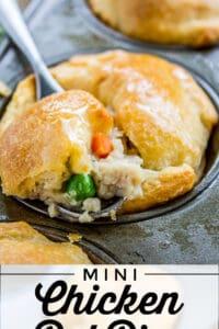 fluffy chicken pot pie with crescent rolls