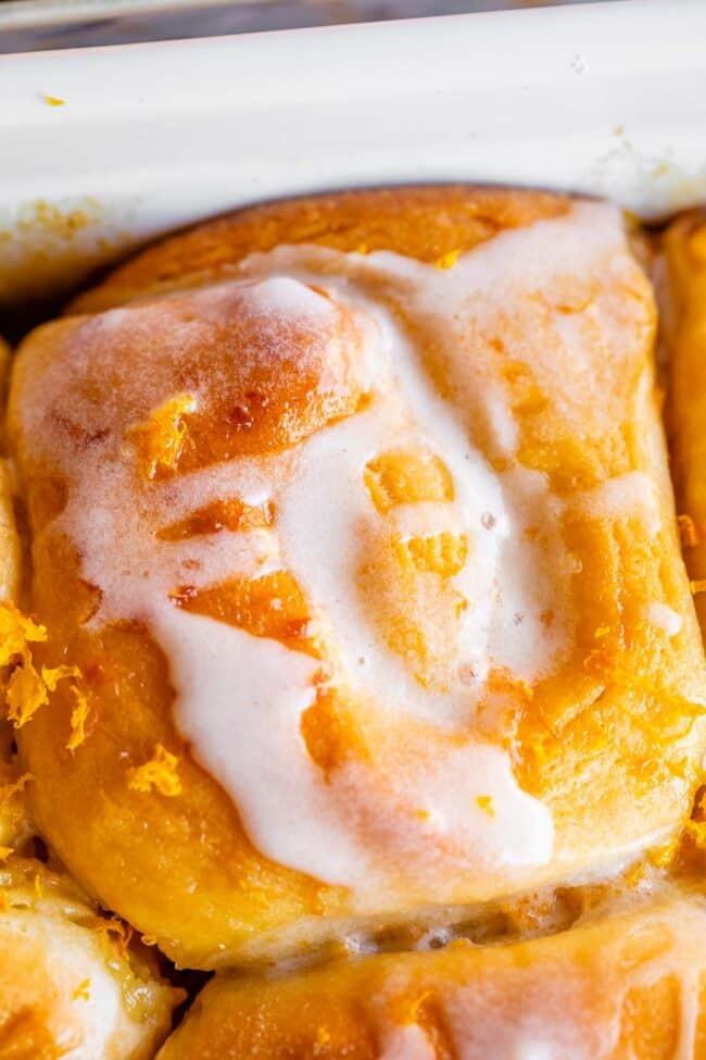 meyer lemon sweet rolls with lemon zest and lemon glaze