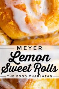 meyer lemon sweet rolls with lemon glaze and zest