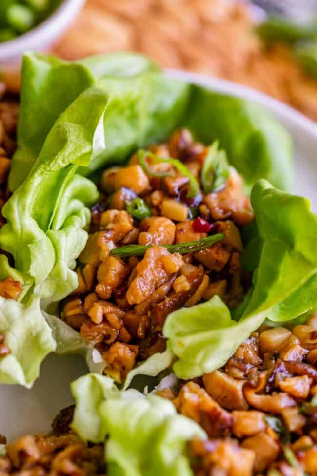 Lettuce wraps with asian chicken