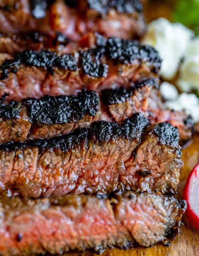 carne asada meat sliced against the grain