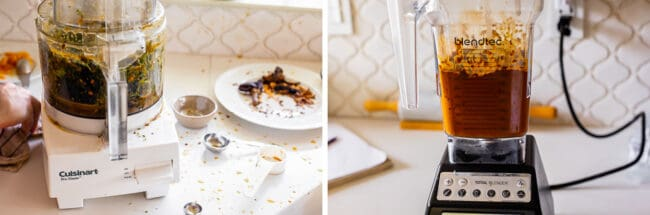 food processor that splattered all over the kitchen, blended mojo sauce in a blender