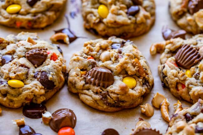 Reese's Peanut butter cookies on a pan