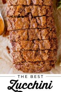 the best zucchini bread recipe sliced overhead