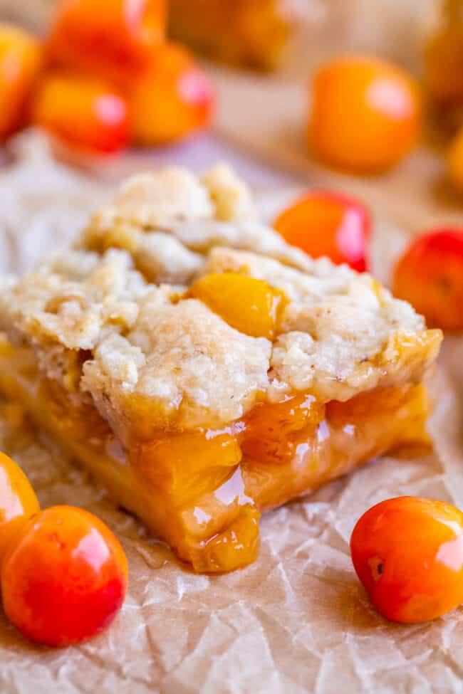rainier cherry season, cherry pie bars