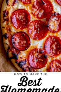 best homemade pizza with pepperoni and cheese