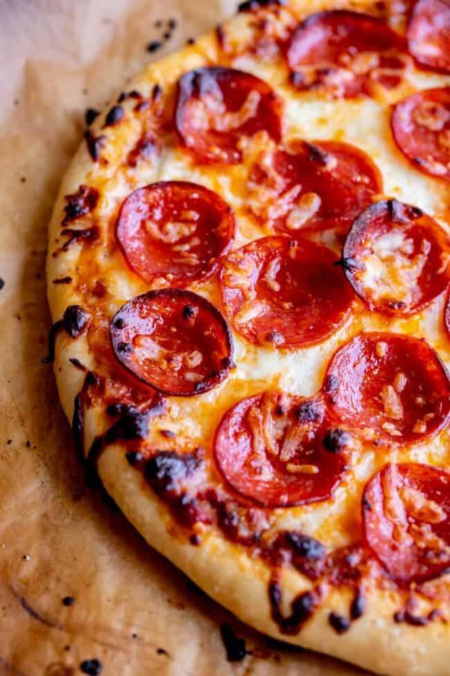 pizza recipe with mozzarella and pepperoni