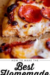 easy pizza recipe with mozzarella and pepperoni